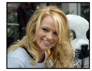 Pamela Anderson Speaks for the Seals during the Vancouver Olympics